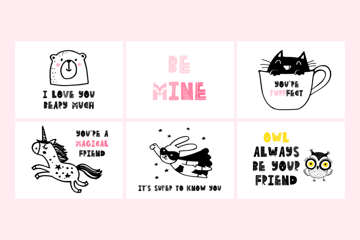 Printable Valentines for Kids from Tiny Humans Read