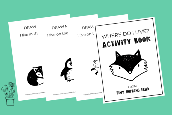 Animal Habitat Activity Book Printable for Kids from Tiny Humans Read