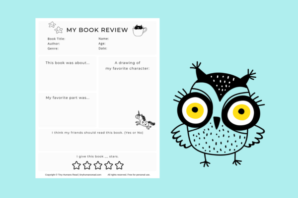 My Book Review Printable for Kids from Tiny Humans Read