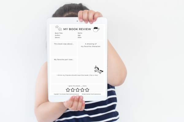 My First Book Review Printables for Kids from Tiny Humans Read