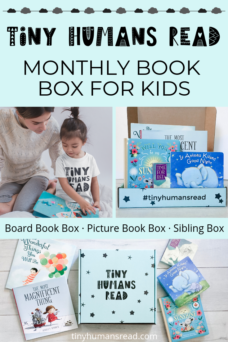 Get a monthly book box for your budding young readers! Get a book box that's ideal for your budding young readers! Every monthly box includes a collection of picture books for kids 3-8 years old. Enjoy a subscription box for kids that promoted early learning, early literacy, fun, reading, and creative imagination.