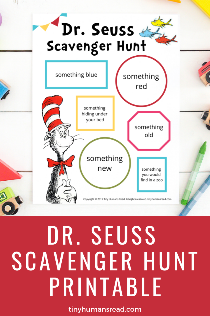 graphic regarding Read Across America Printable identify Dr. Seuss Scavenger Hunt Minimal Human beings Study