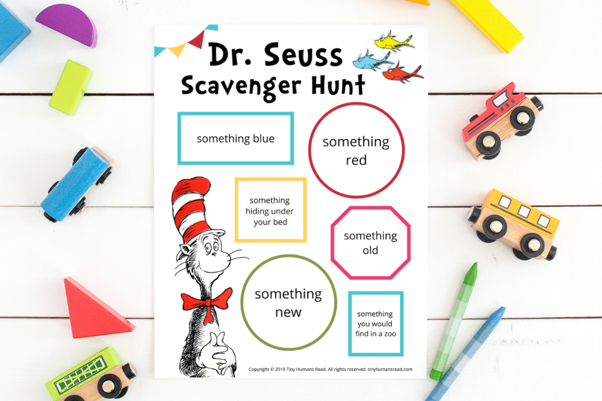 image relating to Printable Scavenger Hunt identify Dr. Seuss Scavenger Hunt Very little People Read through