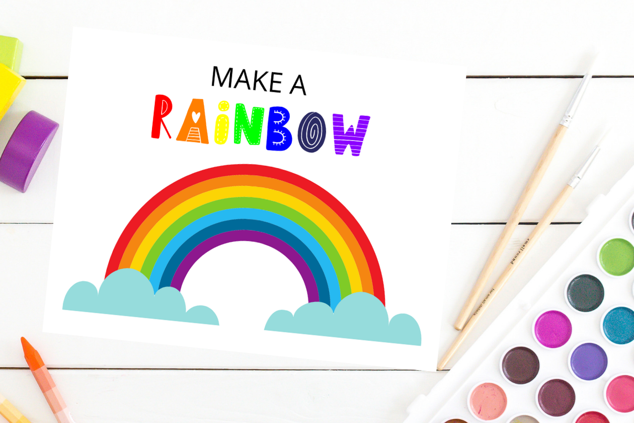Make A Rainbow Craft For Preschoolers And Toddlers