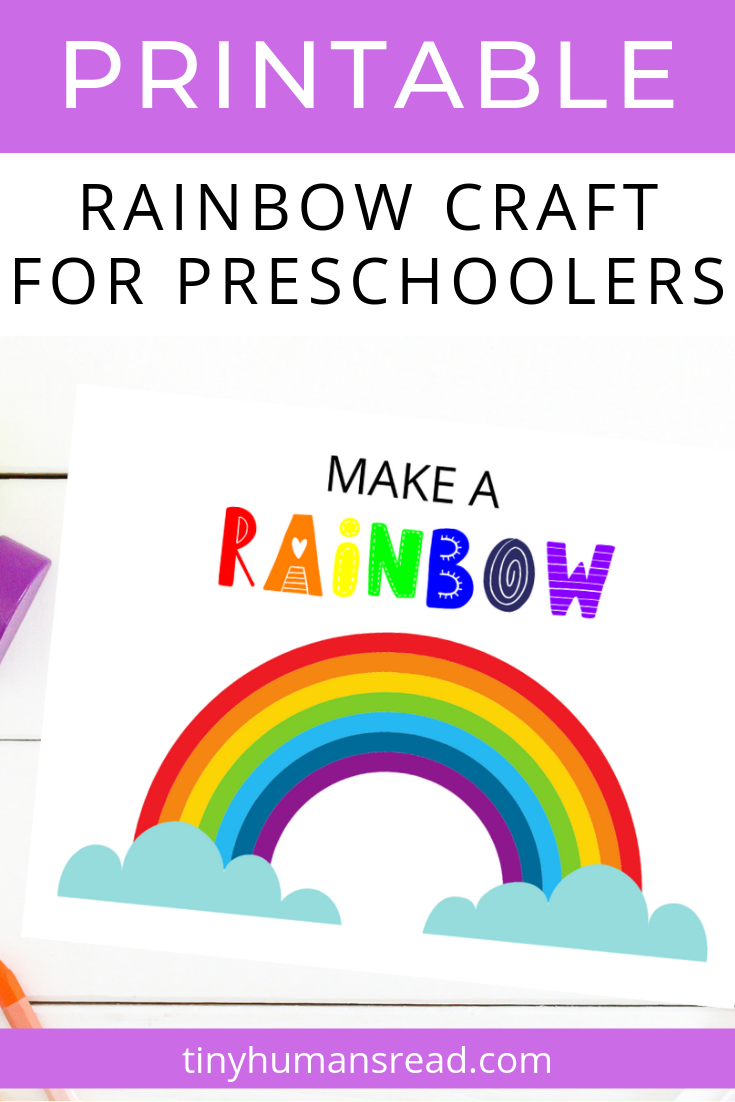 image regarding How to Make a Printable named Generate a Rainbow Craft for Preschoolers and Infants Small