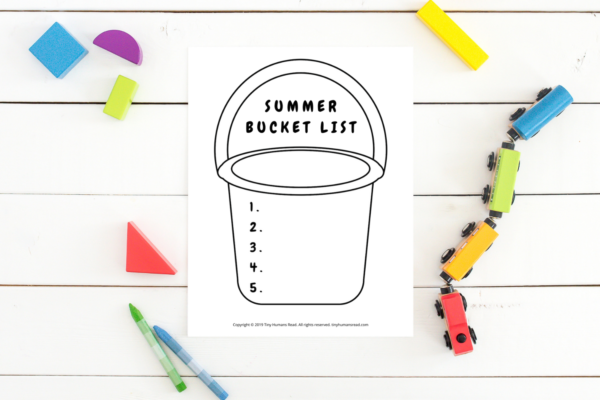 Summer Bucket List Activity for Kids- Printables for Kids from Tiny Humans Read (1)