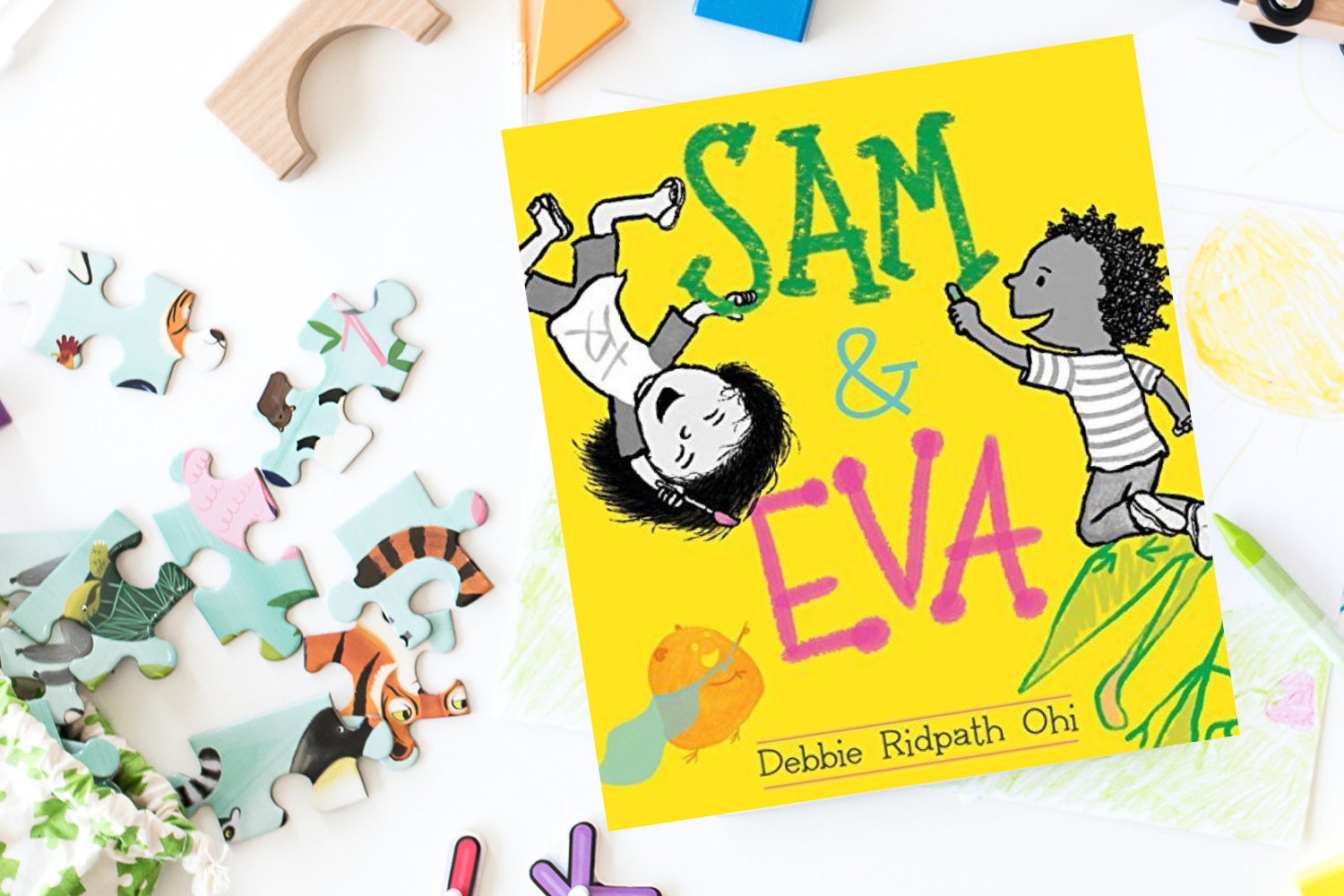 Sam and Eva - Books from Past Boxes of Tiny Humans Read