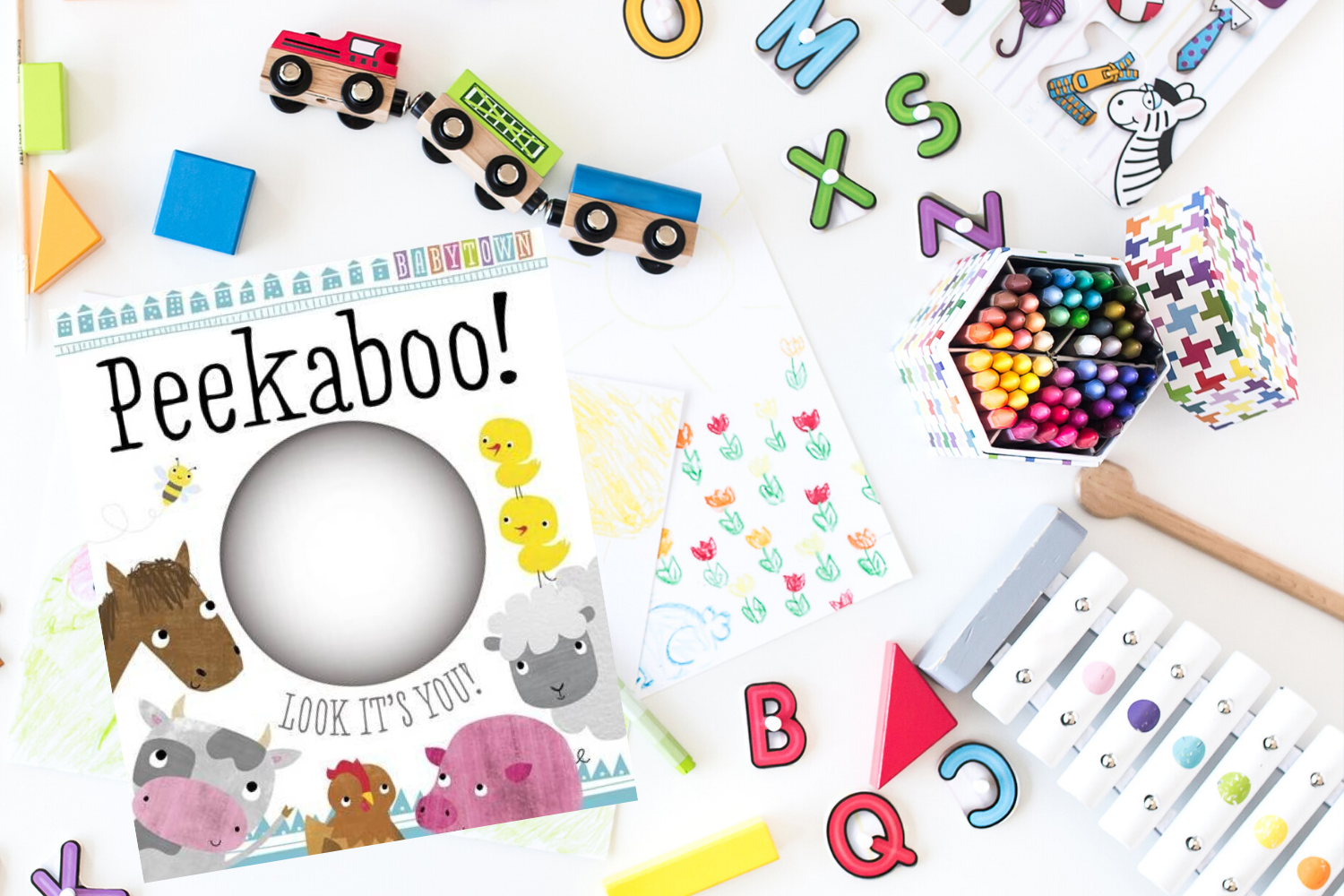 Peekaboo! - Books from Past Boxes of Tiny Humans Read Kids Book Subscription Box