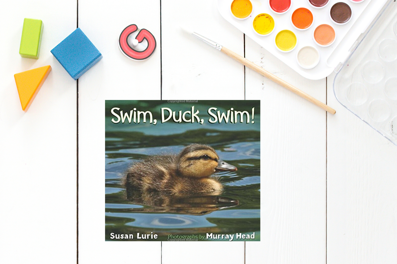 Swim Duck Swim - Books from Past Boxes of Tiny Humans Read Kids Book Subscription Box