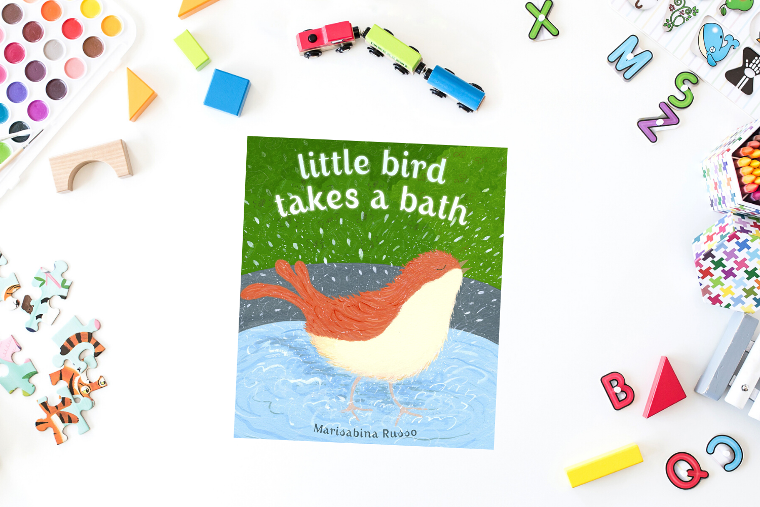 Little Bird Takes A Bath - Books from Past Boxes of Tiny Humans Read Kids Book Subscription Box