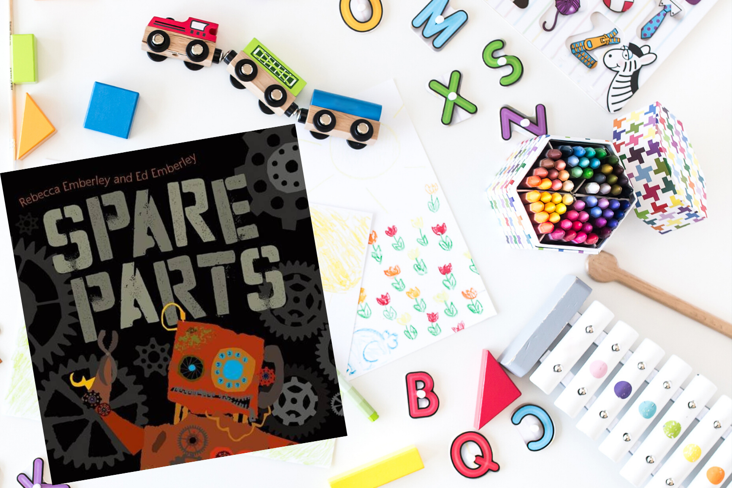 Spare Parts - Books from Past Boxes of Tiny Humans Read Kids Book Subscription Box
