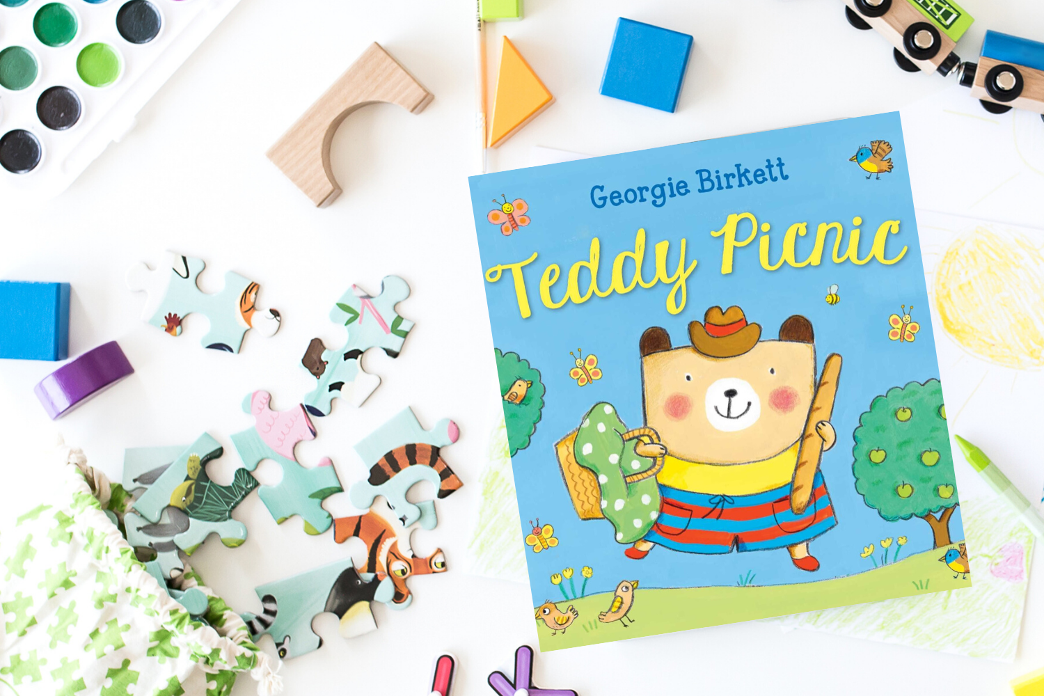 Teddy Picnic - Books from Past Boxes of Tiny Humans Read Kids Book Subscription Box